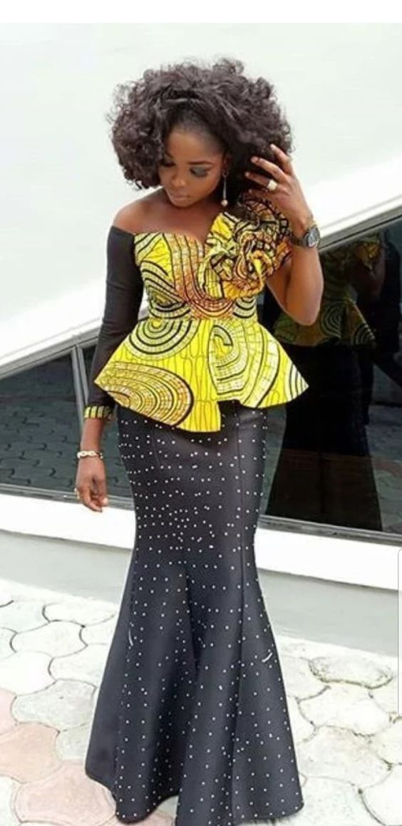 Gorgeous and Elegant Asoebi Skirt and Blouse 2019