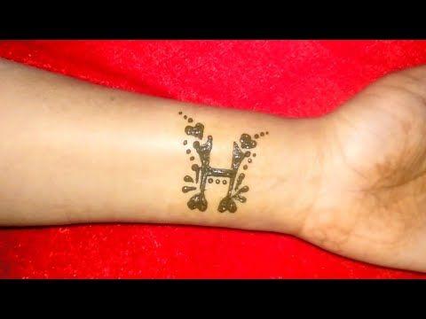 H Alphabet Henna Tattoo H Letter Mehndi Designs For Hand H Tattoo Youtube H Tattoo Mehndi Designs For Hands Alphabet Tattoo Designs