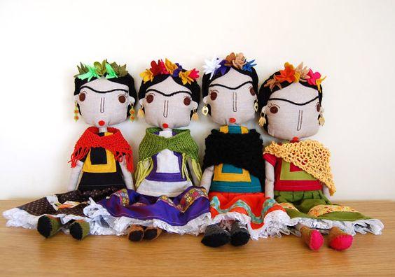 Frida Kahlo-Puppe mexikanische Kunst-Puppe Puppe von simplijessi