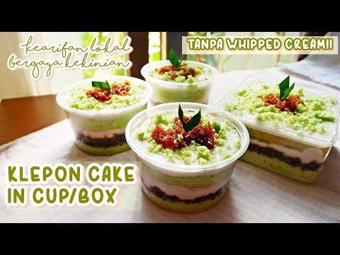 Klepon Lagi Viral Ide Jualan Klepon Cake In Cup Box Tanpa Whipped Cream Youtube Ide Makanan Resep Makanan Penutup Makanan