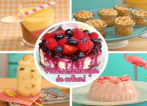 Manjar Flamingo, Banana Pudding, Cheesecake e muito mais para você se lambuzar de colher (Foto: Gshow)