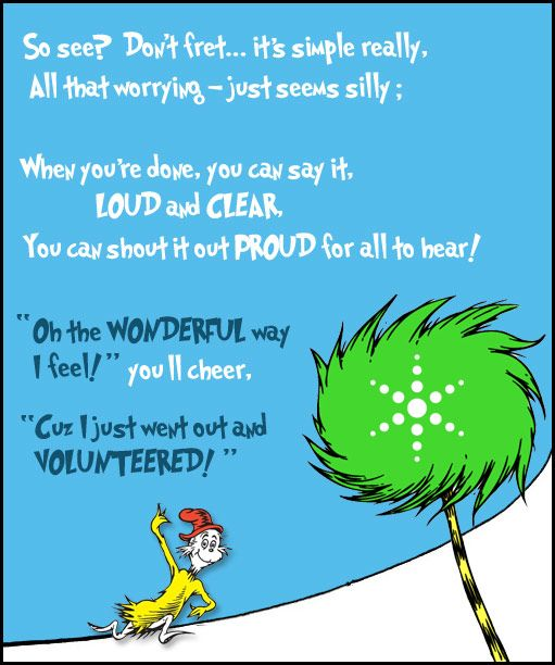 Just go out and Volunteer! via Hugs My