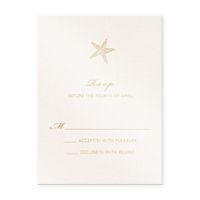 Golden Sea Shell Response Set  eInvite Wedding Wedding Invitations Destination & Seasonal