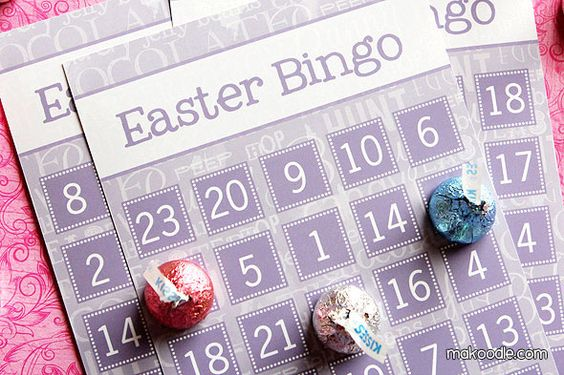 Easter Bingo: Free Printables in Various Colors