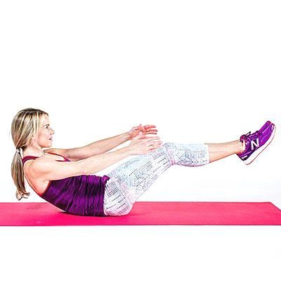 Tone-it V hold: Ab w  Tone-it V hold: Ab workouts, from simple to killer, to help you flatten your belly, burn fat, and strengthen your core. |  Health.com