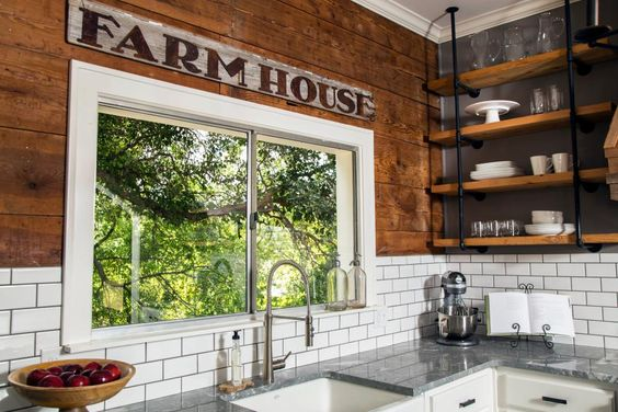 Rustic Farmhouse Wooden Sign in the Kitchen