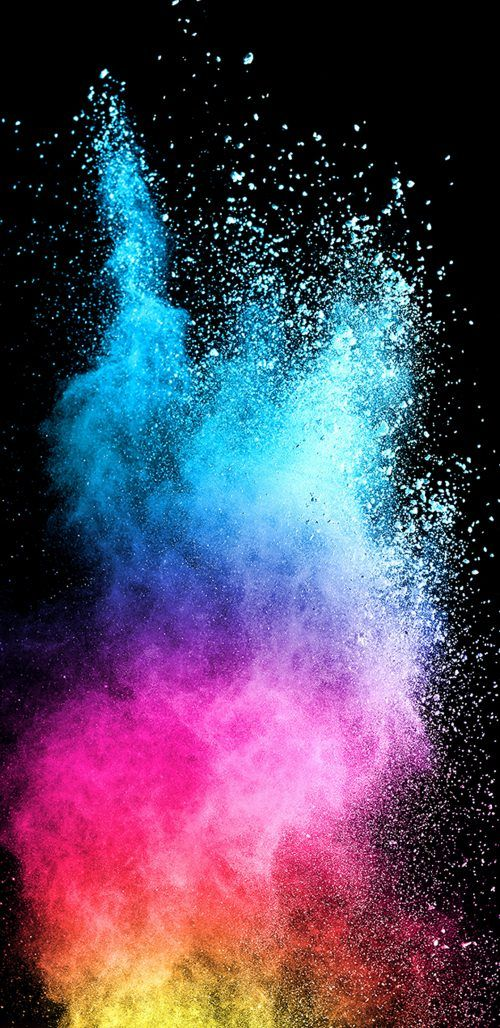 Abstract Colorful Powder With Dark Background For Samsung