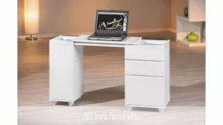 Space saving office desk #office #modernhomedecor