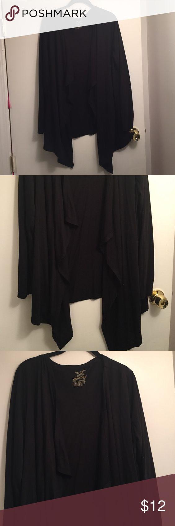 Black Cover Up Loose Fitting Black Shrug Tops