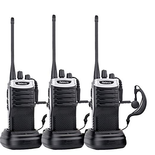 2 Pack Retevis RT21 Walkie Talkies for Adults Long Range Rechargeable 16CH VOX Scan Two Way Radio with Earpiece for Camping Hunting
