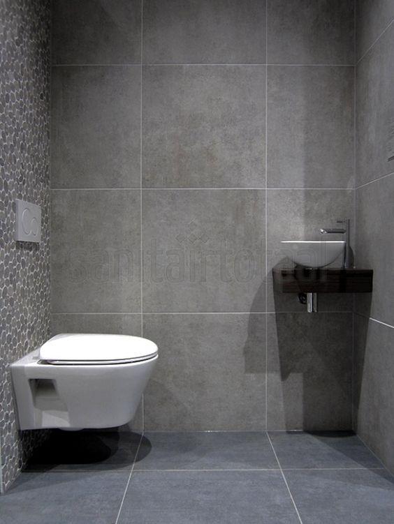 Moza ek tegels tegels badkamer grijs tegelstroken toilet muurstrips toilet badkamer ideeen - Kleine badkamer deco ...