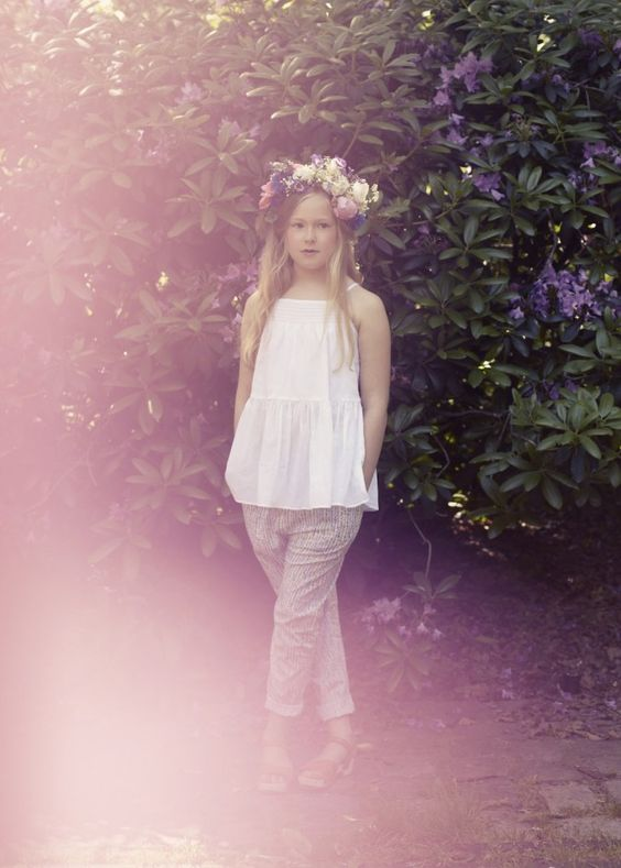 This is the beautiful daughter of the founder and creative leader behind the Danish brand Poppy Rose -isn't she just gorgeous?