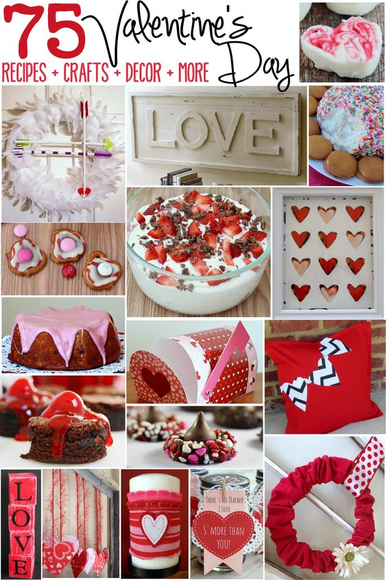 75 Valentine's Day Recipes, Crafts, Decor, Valentines and More! #ValentinesDay: