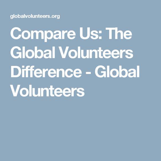 Compare Us: The Global Volunteers Difference - Global Volunteers