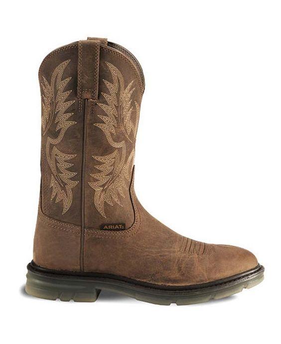 Ariat Brown Maverick II Pull-On Work Boots - Soft Toe [10002449 ...