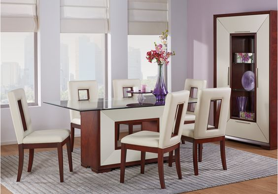 shop for a sofia vergara savona 5 pc pedestal dining room at rooms to go find dining room sets that will look great in your home and complement thu2026 - Sofia Vergara Furniture