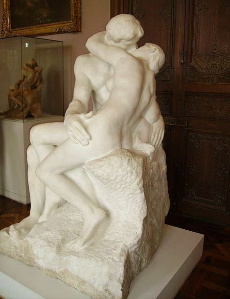 """""""The Kiss"""" by Auguste Rodin, circa 1882"""