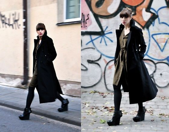 Acne Platforms Karen Millen Long Military Coat Anthropologie
