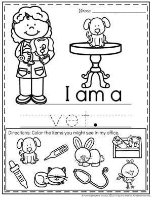 printable coloring pages community workers theme | Community Helpers Preschool Theme | P.A | Pinterest ...