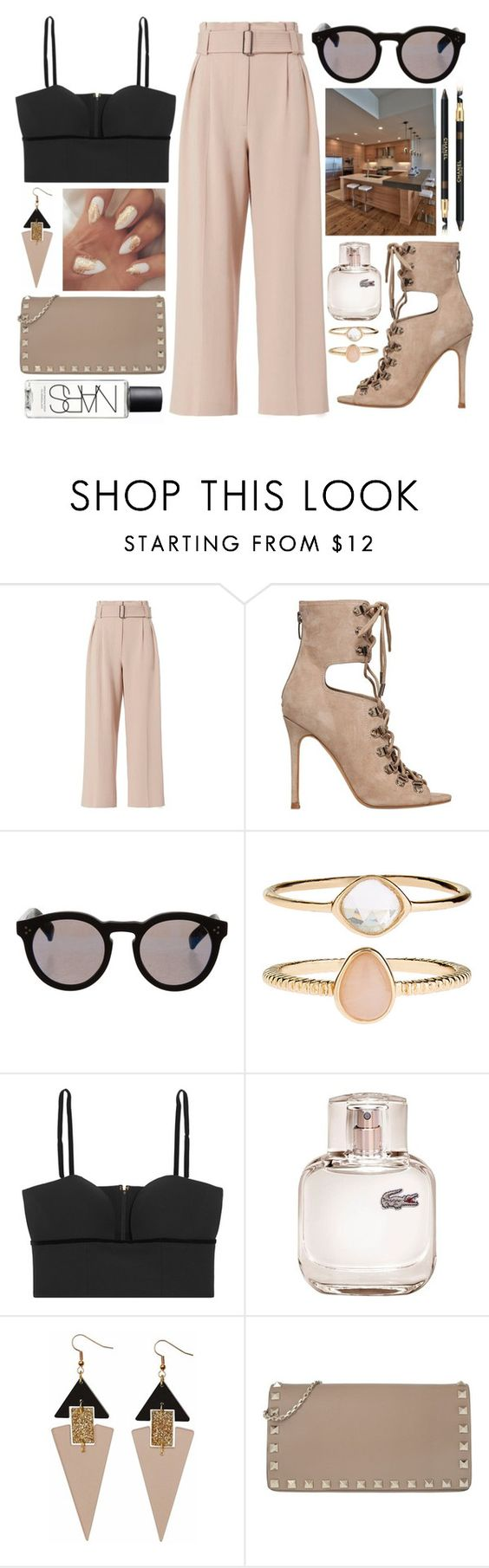 """""""Sin título #784"""" by laurenhipster ❤ liked on Polyvore featuring A.L.C., Kendall + Kylie, Illesteva, Accessorize, Alexander McQueen, Lacoste, Toolally, Valentino and NARS Cosmetics"""