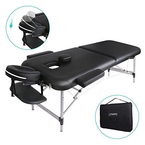 Lettino Massaggio Portatile In Alluminio.Naipo Lettino Da Massaggio Deluxe Professionale Portatile A 2