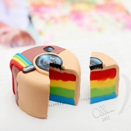 Alívio Imediato | Please send us one of your Instagram Cakes! #rainbow #cake #instagram  pinned by wickerparadise.com