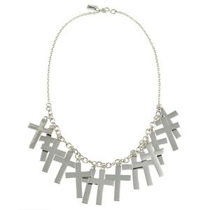 Image of Marcia. Fully Loaded Cross Necklace