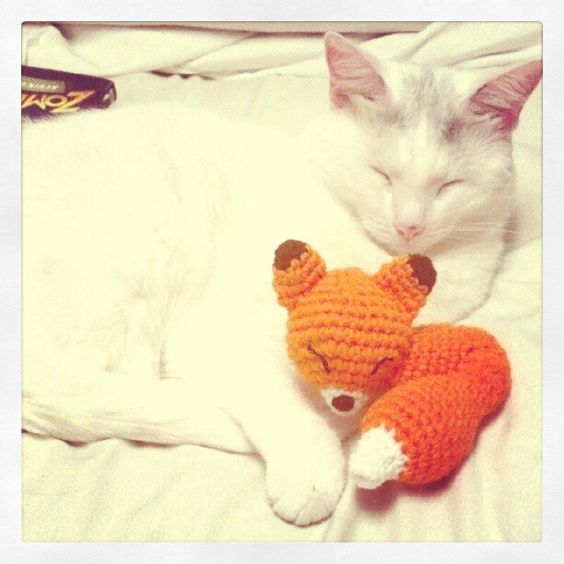 An adorable fox amigurumi that might have to make its way into my nephews hands one day.