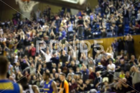 Blurred Background Of Crowd Of People In A Basketball Court Premium Photo 73942404 Blurred Background Basketball Court People