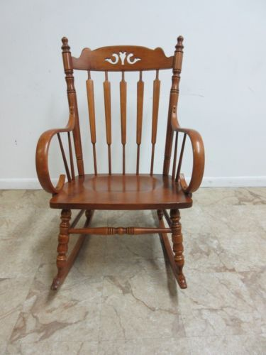 Andover-Tell-City-Maple-Plank-Bottom-Bent-Wood-Rocker-Rocking-Chair