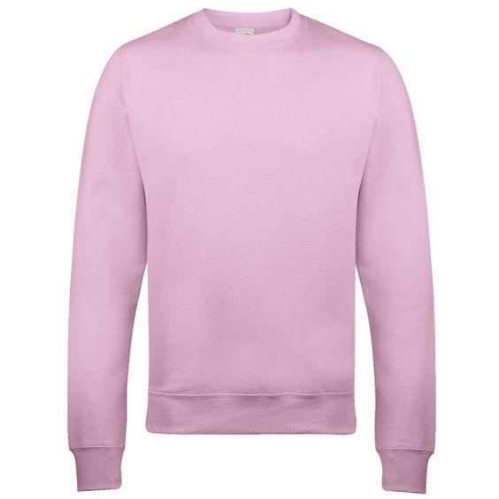 Plain Baby Pink Unisex Sweatshirt. Hoodie Cotton Jumper by Millaco ...