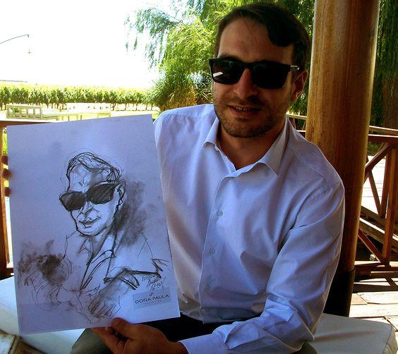 Caricaturas realizadas en vivo por Andrés Casciani (Evento Fin de Año para proveedores de Bodega Doña Paula, Mendoza, 18/11/16 ) * para contratar el servicio escribir a andrescasciani@gmail.com o enviar mensaje privado. http://andrescasciani.com/