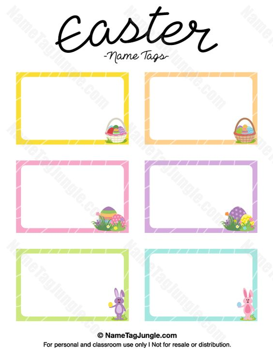 free printable easter name tags the template can also be With easter name tags template