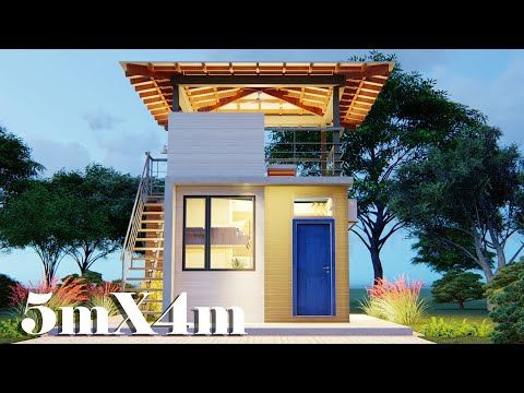 Small House Design With Deck 5x4 36 Sqm Youtube House Design House Architecture Styles Small House Design