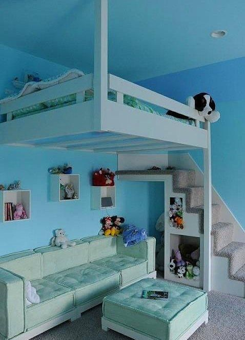 10. Al bak çocuğun odasını tıka basa doldurmadan her şeye nasıl da yer açmış…
