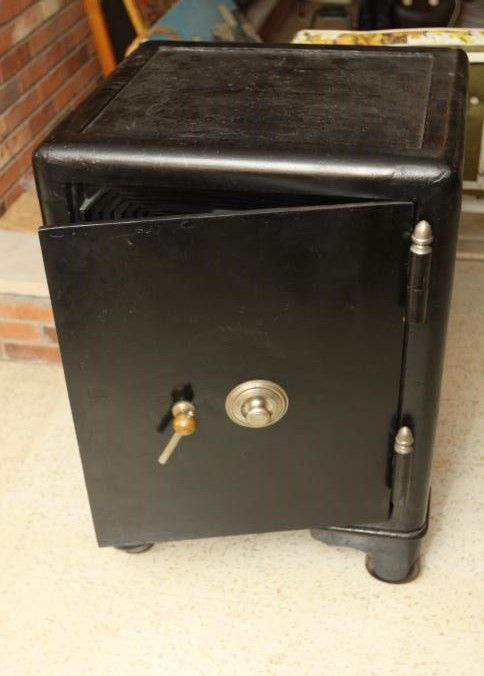Mosler Safe On Casters With Three Locking Bars Includes