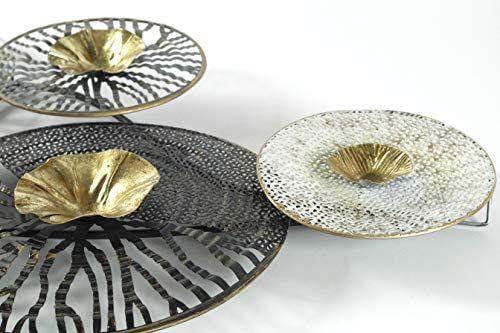 amazon de kobolo wandbild metallbild 3d bild roots metall anthrazit silber gold ca 105x50 cm 3 d bilder plüschtier trophäe tierkopf wandobjekte deko