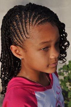 This black magazine features a section on hair styles for black girls similar to the sections seen in black hair magazines. Description from…