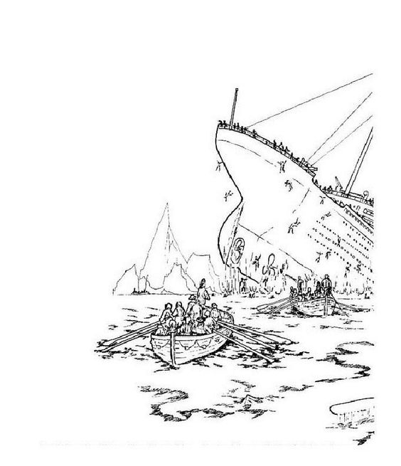 Titanic Coloring Pages - http://fullcoloring.com/titanic-coloring ...
