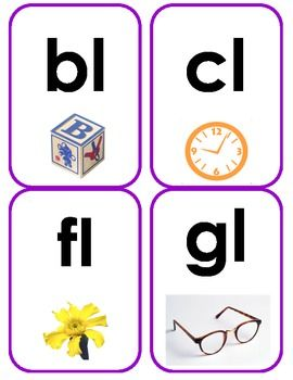 Initial Blend Flash Cards | Smarty Pants | Phonics blends ...