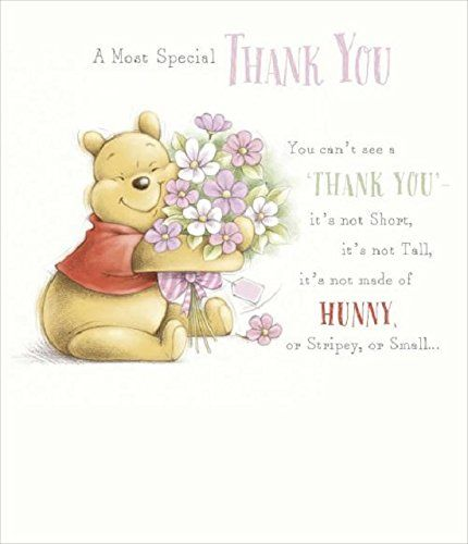 Winnie The Pooh Thank You Card Wise Words From A Silly Old Bear