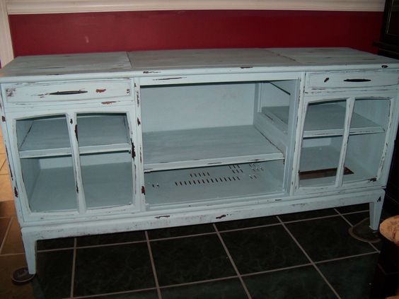 Repurposed vintage TV/stereo console