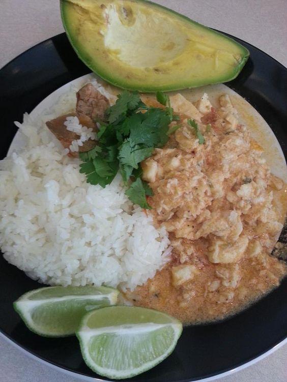 Pescado con coco arroz blanco y aguacate comidas - Comidas con arroz blanco ...
