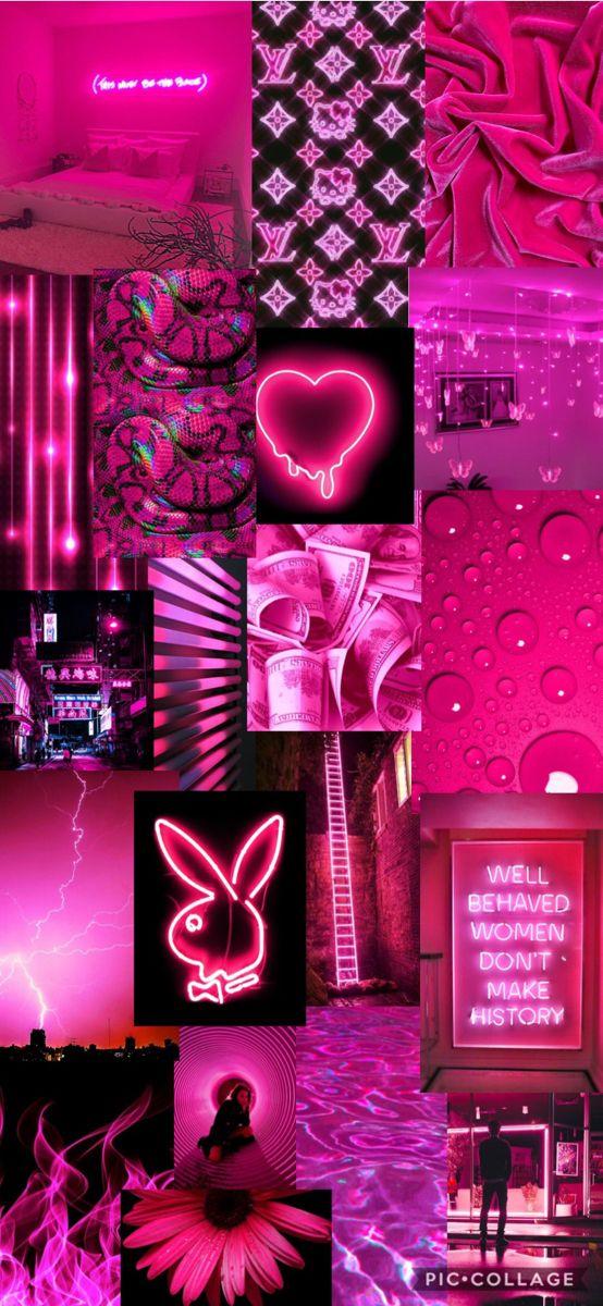 Neon Pink Aesthetic Lockscreen Iphone Wallpaper Girly Aesthetic Iphone Wallpaper Pretty Wallpaper Iphone Wallpaper iphone aesthetic neon
