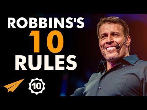 Tony Robbins's Top 10 Rules For Success (@TonyRobbins) #heavenonearth11.com #life purpose coach #success rules