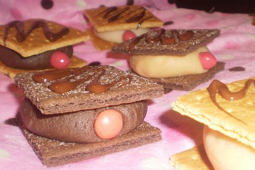 Mammo-grahams!: Graham Cookies, Breast Cancer Awareness Ideas, Breast Cancer Fundraiser, Mammograhams, October Breastcancerawareness, Funny Breastcancerawareness, Mammo Grahams, Awareness Month, Mammogram Cookies