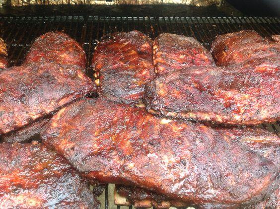 Pork Spare Ribs. Fall off the bone tender. 7.5 hours at 225* #zmanbbq #texasbbqrub #ribs #bbqribs