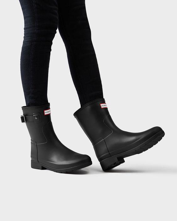 Women's Original Refined Short Rain Boots   Official Hunter Boots Site