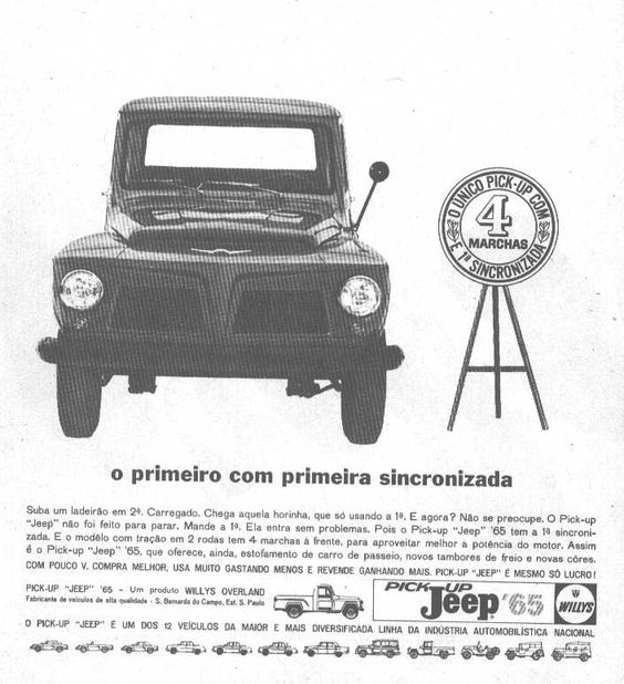Pick Up F 75 1965 Jeep Chacaras A Venda