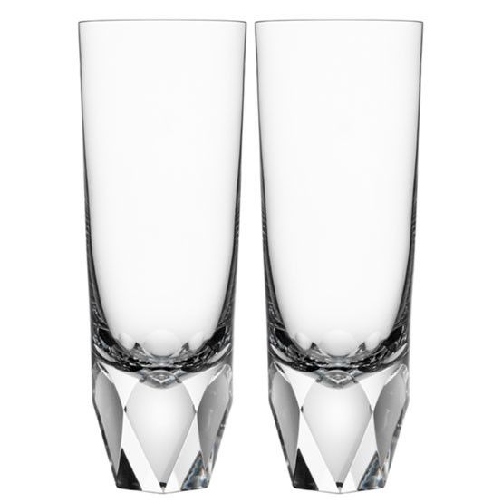 Orrefors Carat Tumbler Pair Crystal Drinkware Glass Crystal Drinking Glasses